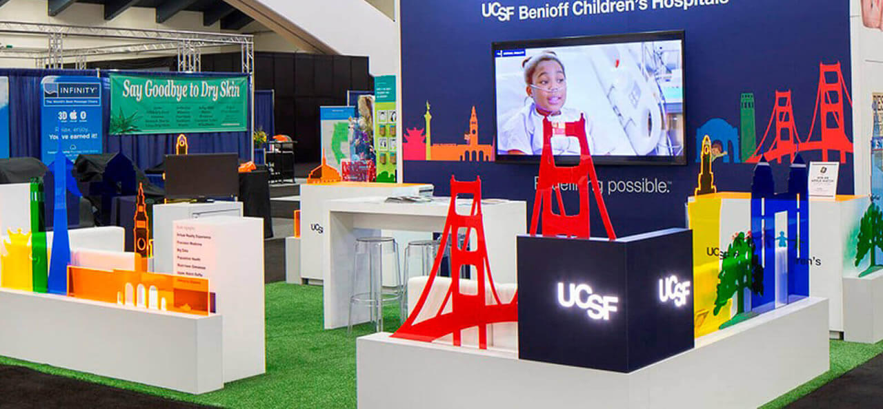 Arena Exhibits San Francisco: custom trade show displays.
